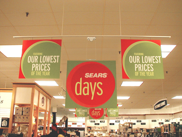 Retail Signs - Sears