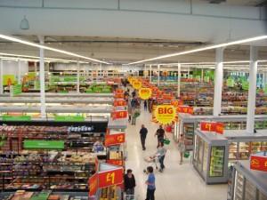 supermarket retail signs
