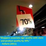 70% store signage