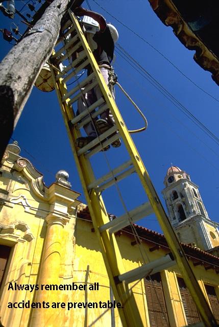 using ladder - safety at work