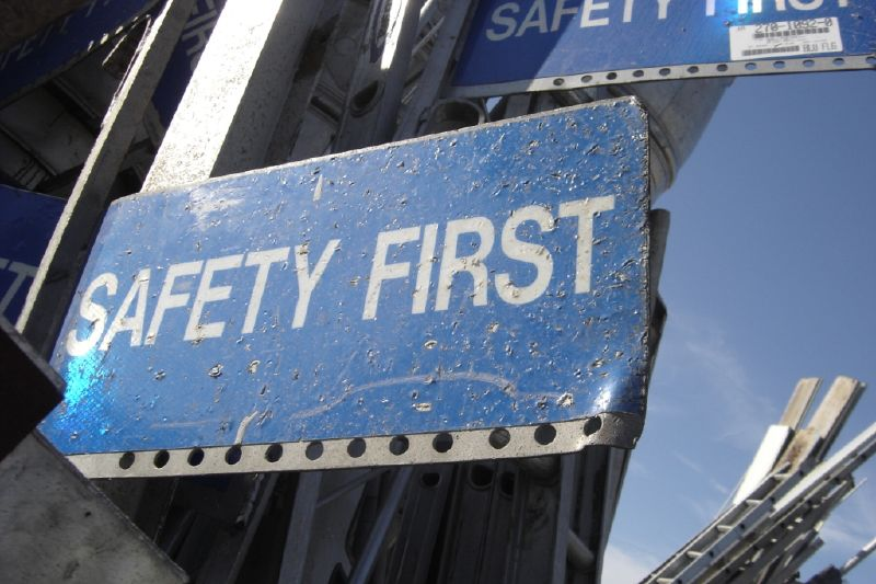 safety first signage