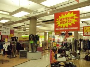 department store signage