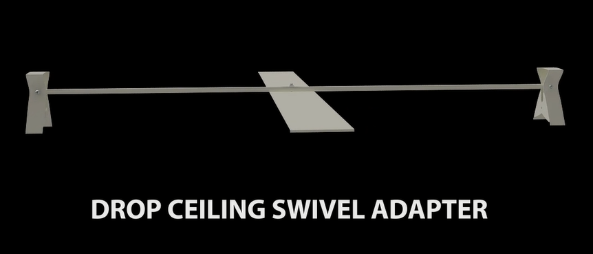 Retractable signage products - Drop ceiling swivel adapter 2
