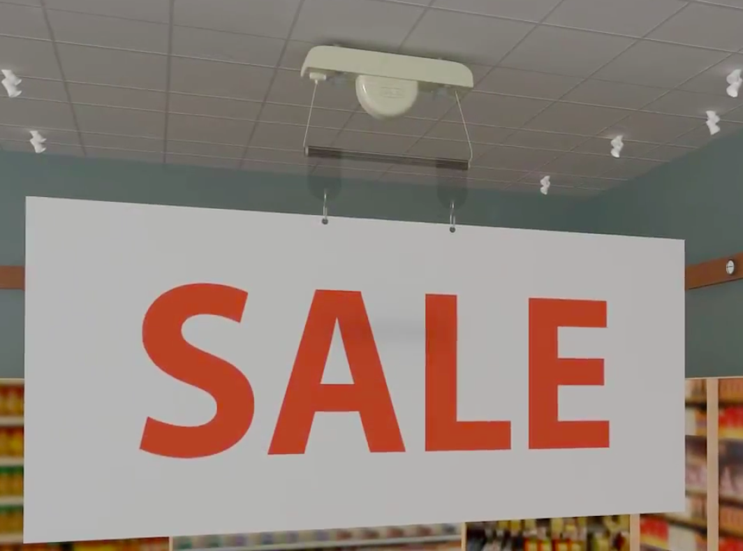 Retractable signage products - retractable sign hanging system 2