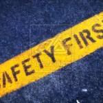 safety signage 1 - yellow blue image